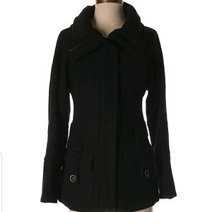 Black wool FREE PEOPLE coat size 0